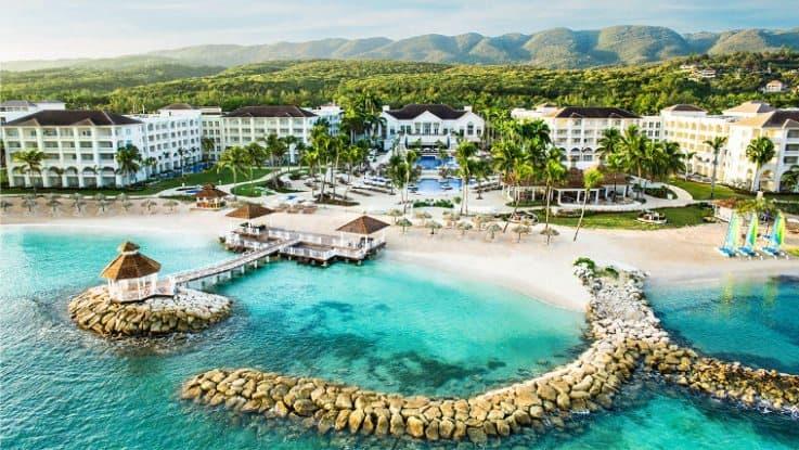 Hyatt Ziva Rose Hall Aerial View in Jamaica